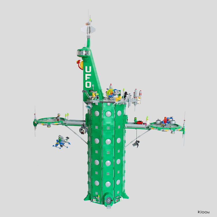 UFO Green Tower